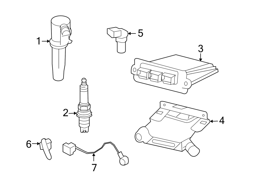 Mercury Mariner Engine Crankshaft Position Sensor