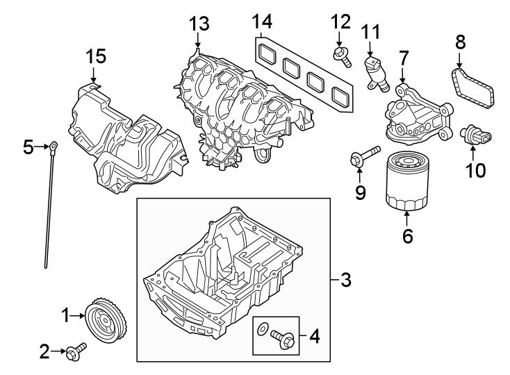 Ford Edge Engine Oil Filter Adapter Gasket. LITER, Coolant
