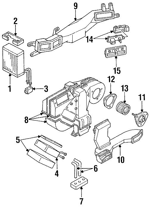 Mercury Villager A/c expansion valve. Heater, air, unit