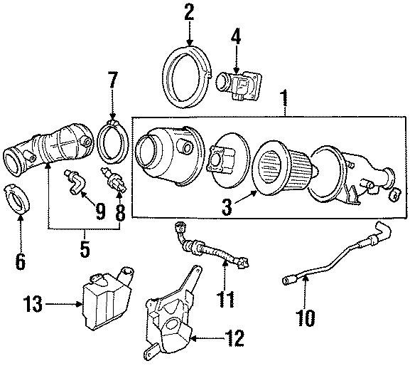 Mercury Tracer Air Filter. Escort, Tracer; 2.0L
