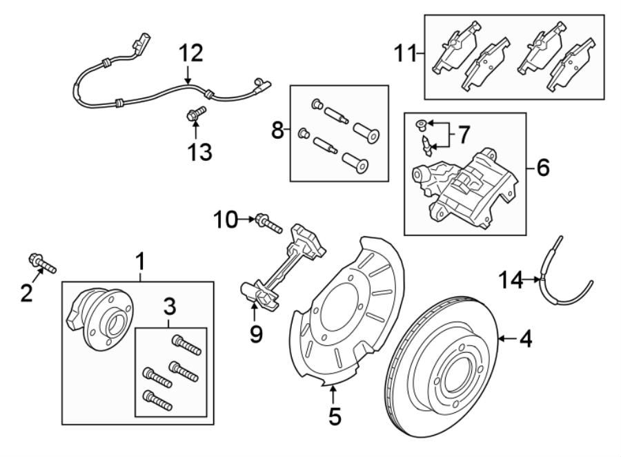 Ford EcoSport Abs wheel speed sensor (rear). Ecosport; fwd