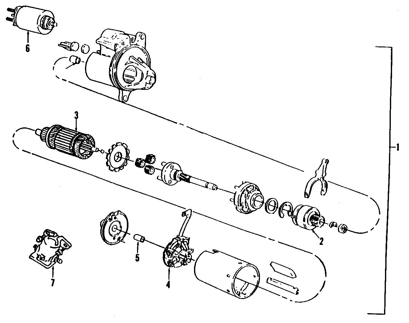 Ford Bronco Starter Motor
