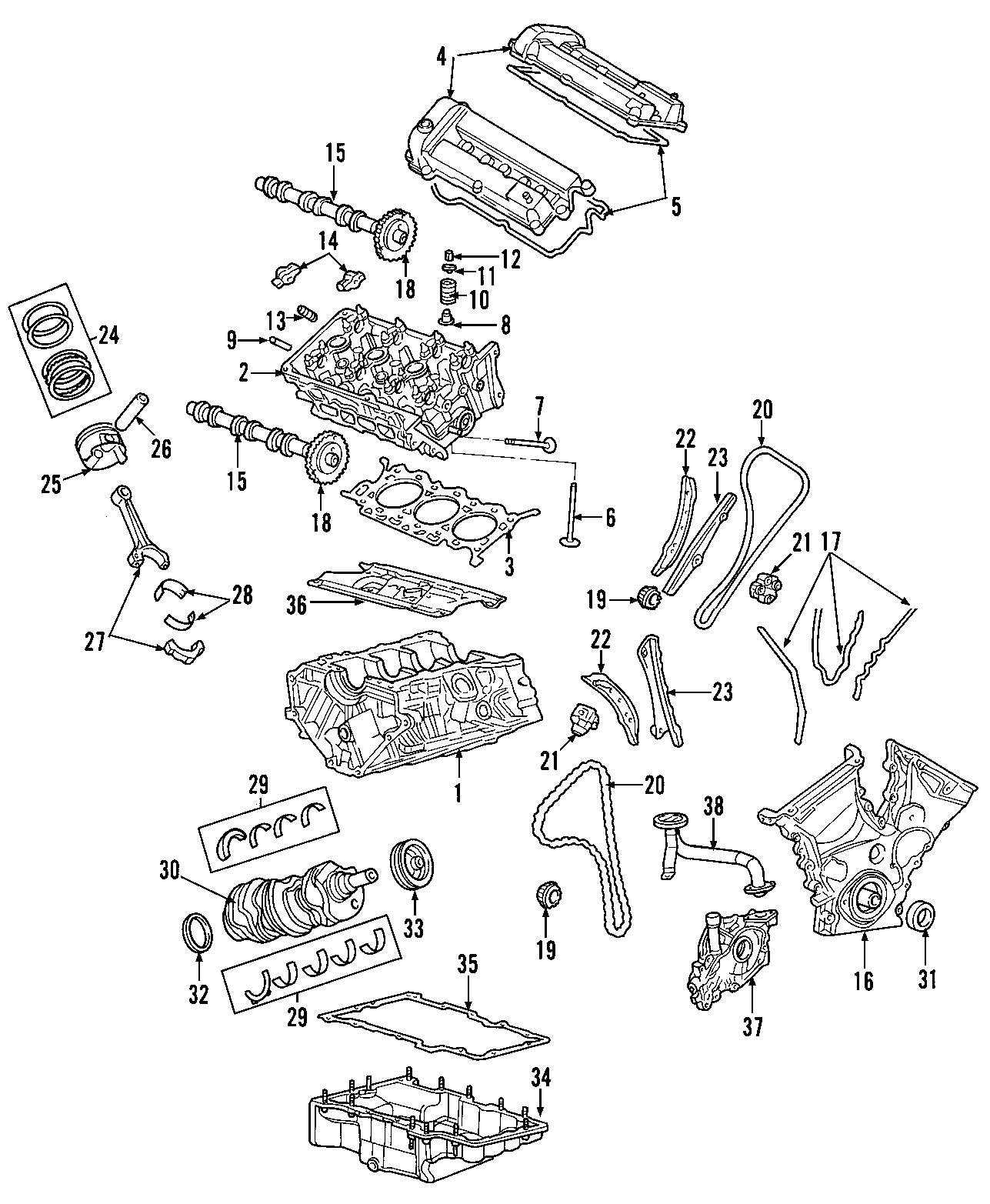Mercury Mariner Engine Gasket Set. Engine Gasket Set. Kit