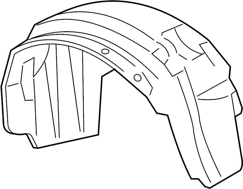 Mercury Grand Marquis Fender Splash Shield (Front, Lower