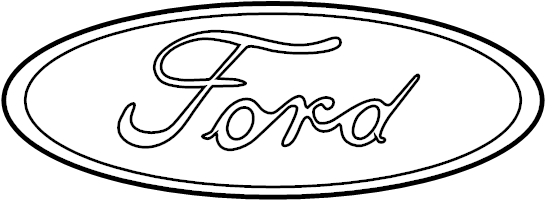 Ford Crown Victoria Deck Lid Emblem. FORD oval. TRUNK