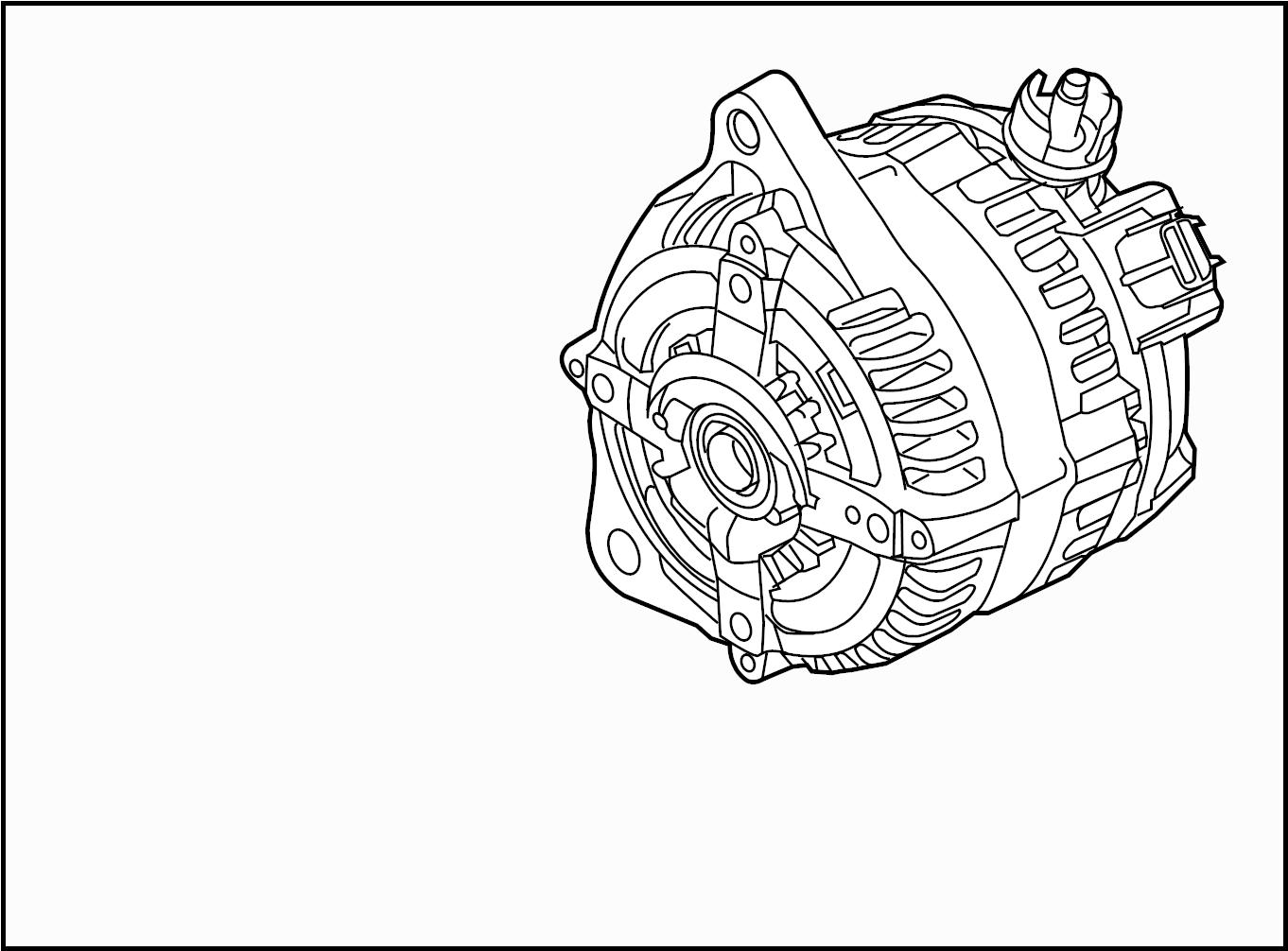 Ford Mustang Alternator. Alternator Assembly. Trans