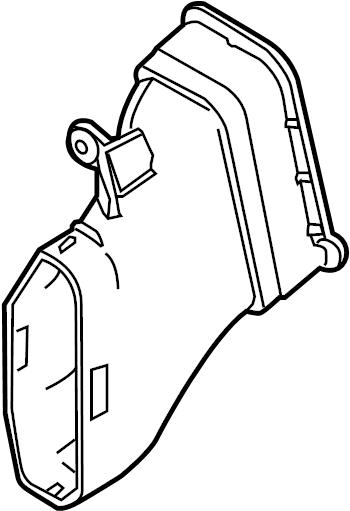 Ford Mustang Engine Air Intake Hose. 3.7 LITER. 4.6 LITER