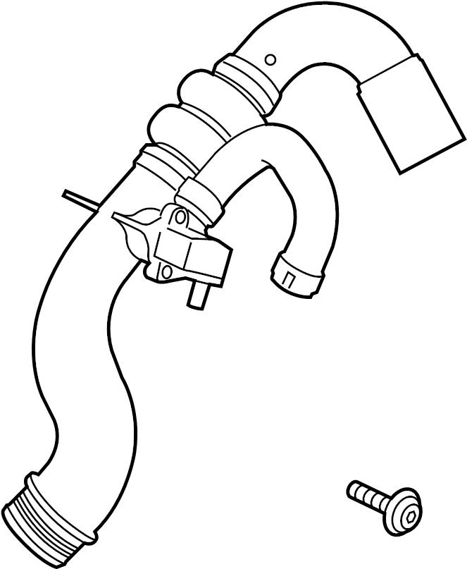 Ford Mustang Turbocharger Intercooler Pipe. LITER, Tube