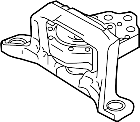 Ford Focus Engine Mount (Front). 1.0 LITER. Focus