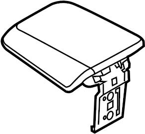 Ford Focus Console Lid. LOW LINE, black. Center, Armrest