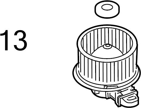 Lincoln Town Car Hvac blower motor wheel clip. Retainer