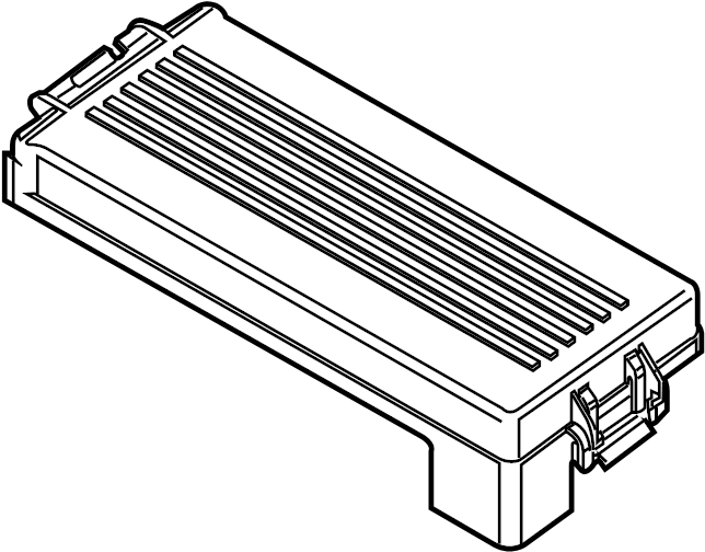 Ford Flex Cover. Top. Fuse. (Upper). ENGINE COMPARTMENT
