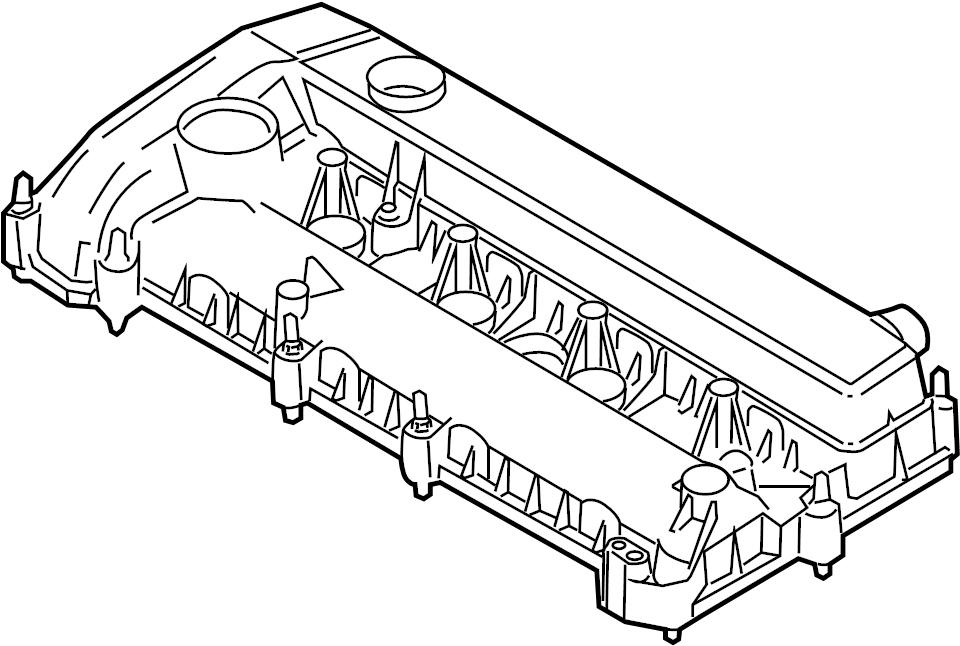 Mercury Mariner Engine Valve Cover. Hybrid, LITER, TIMING