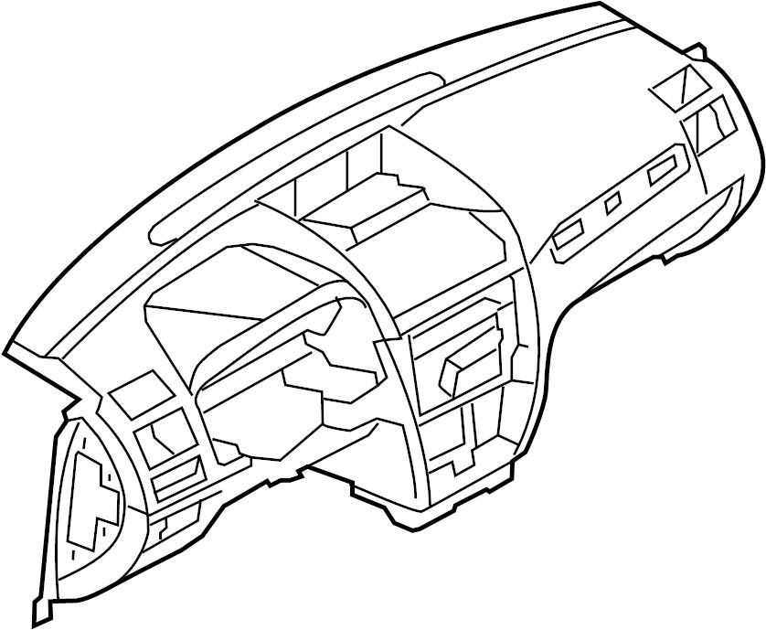 Mercury Milan Dashboard Panel. Camel, Instrument, Make