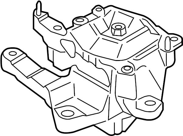 Ford Fusion Mount. Transmission. (Rear, Upper). DOHC