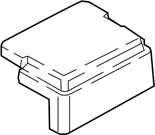 Lincoln Continental Fuse Box Cover (Lower). End, Side