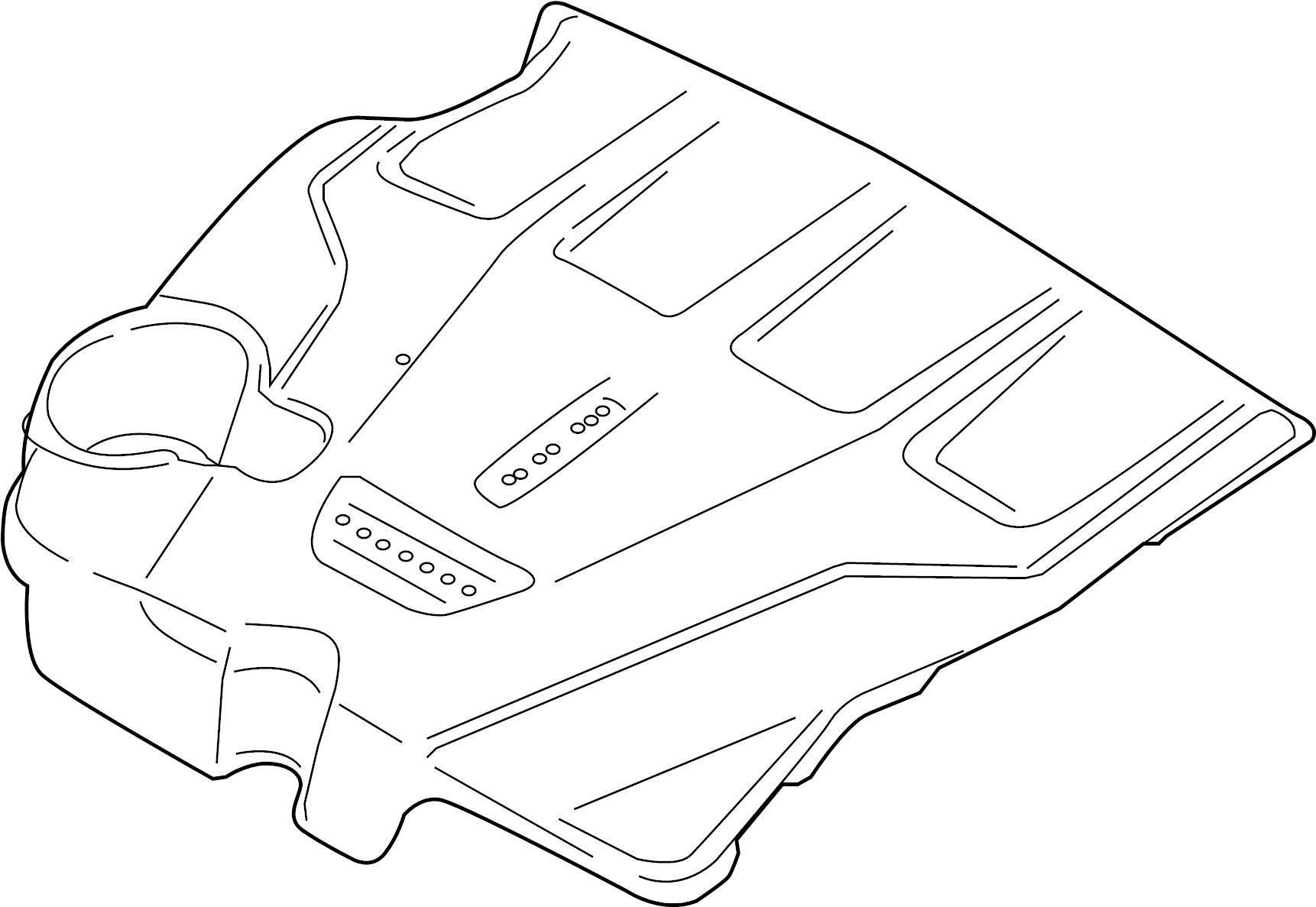 Lincoln Mkz Engine Cover 2 7 Liter 3 0 Liter Transaxle