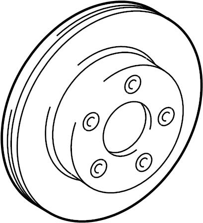 Lincoln Town Car Disc Brake Rotor. Make, Replace