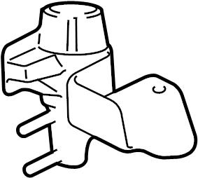 Lincoln LS Valve. Purge. Vapor. 2003-06, 3.0 LITER. 2003