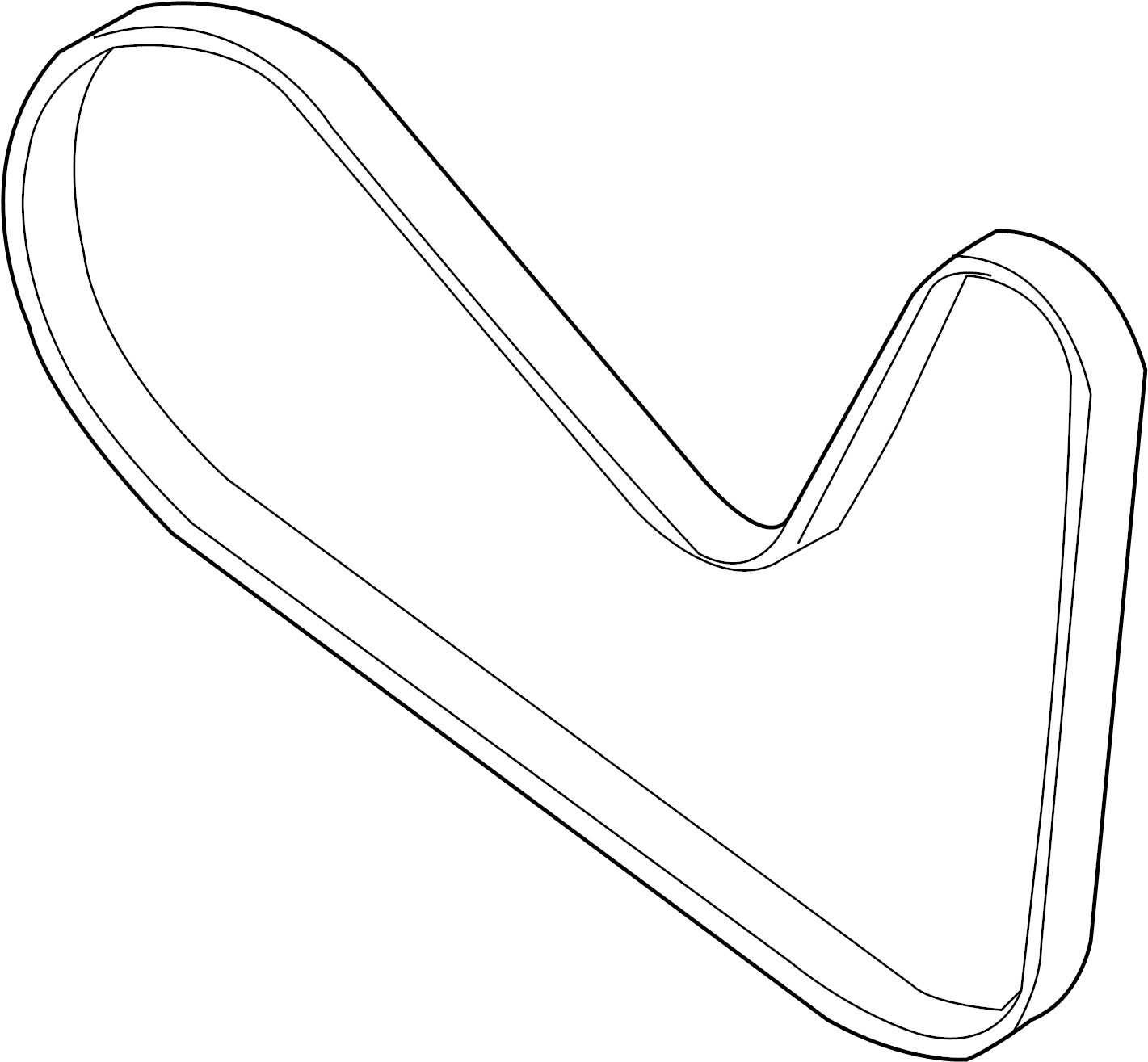 Lincoln MKS Accessory Drive Belt. Serpentine Belt. LITER