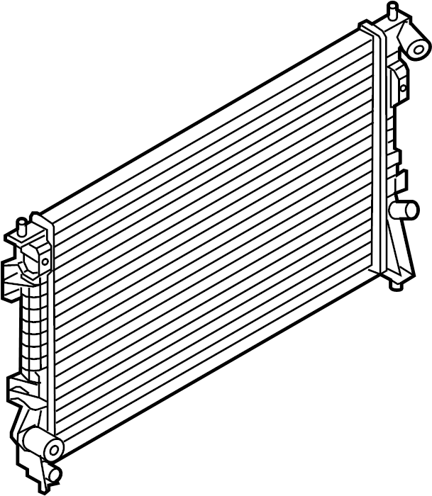 Lincoln MKS Radiator. Radiator Assembly. 3.5 LITER. 3.5