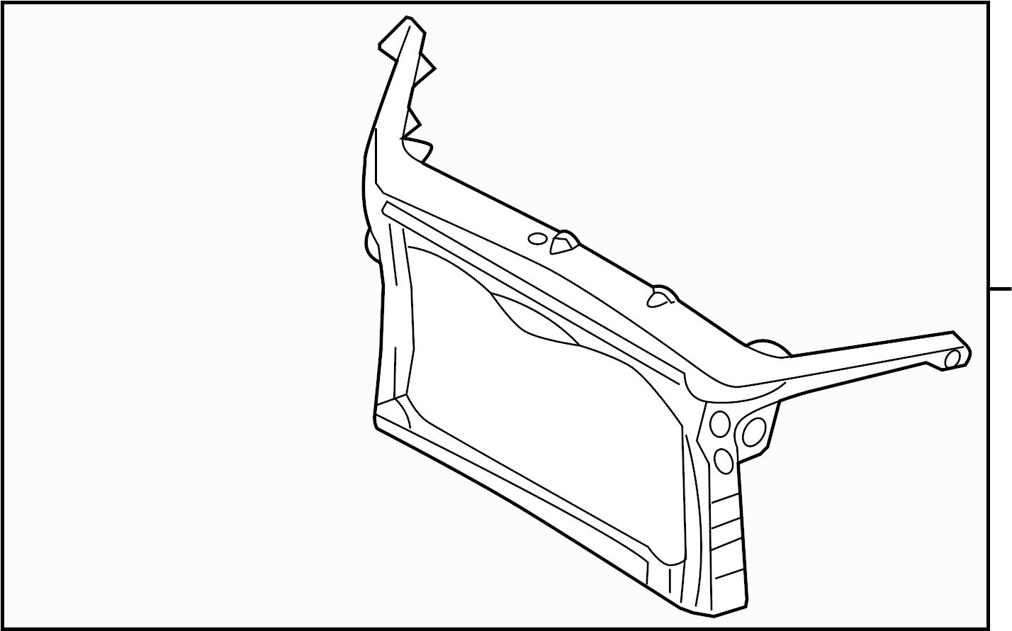 Lincoln MKZ Radiator Support Panel (Front, Upper, Lower