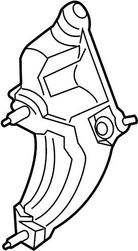 Lincoln MKX Bracket. Bearing. 3.5 LITER. 3.7 LITER