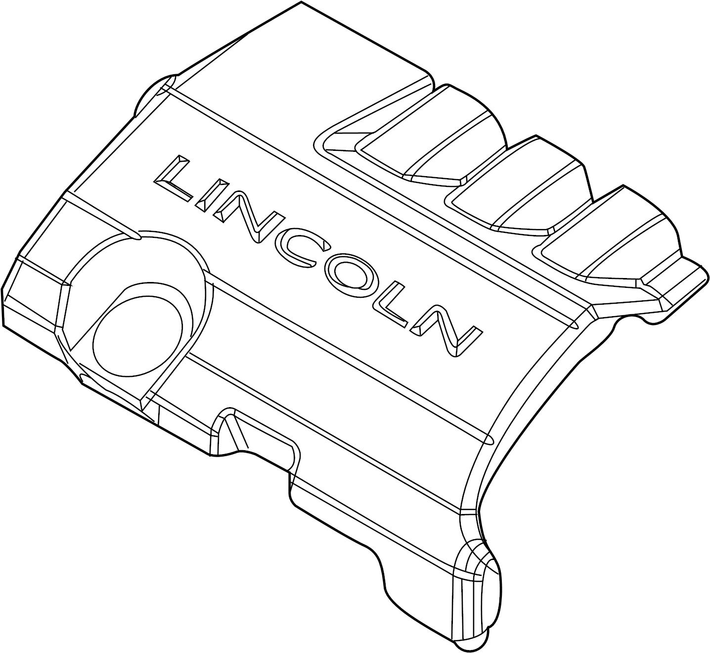 Lincoln Mks Engine Cover 3 7 Liter 3 7 Liter 12