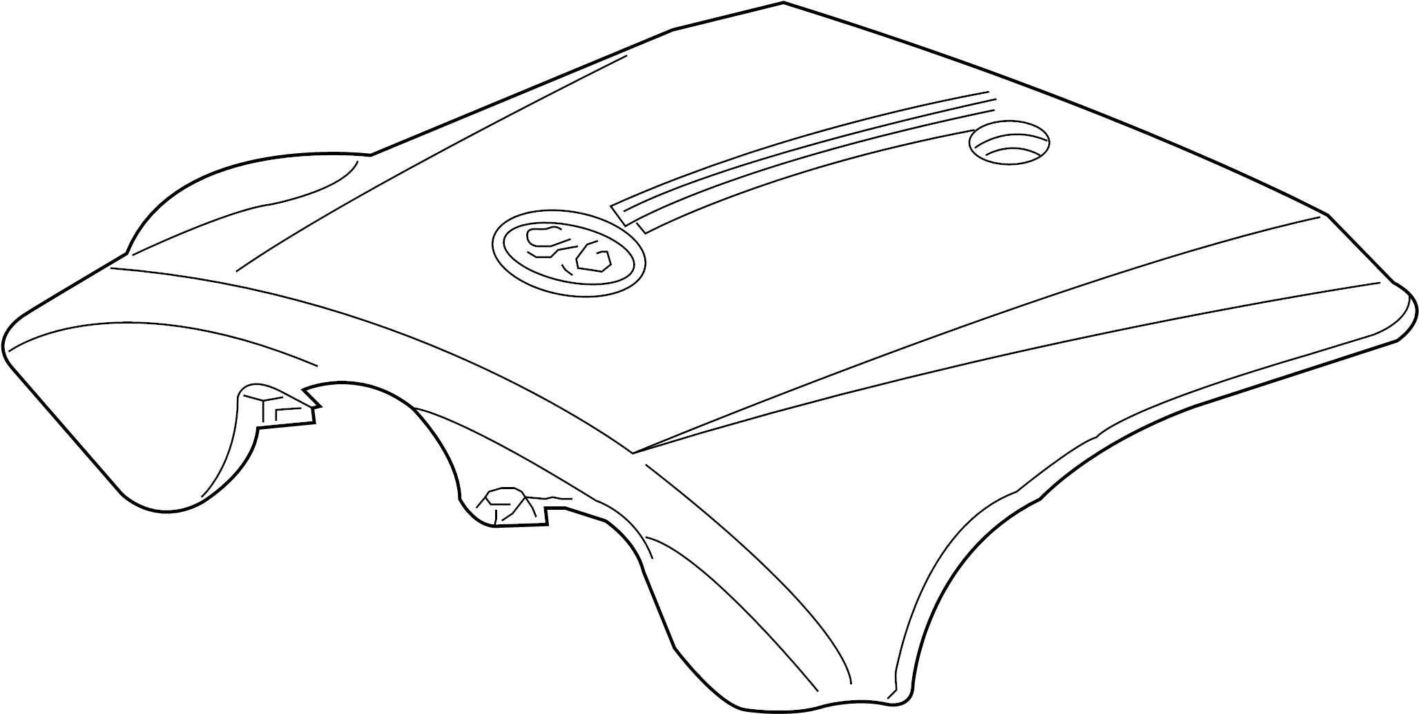 Mercury Grand Marquis Engine Cover. From 1/29/99. To 1/29