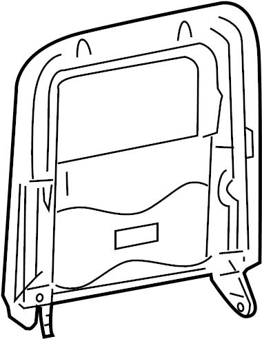 Mercury Grand Marquis Seat Back Frame. SPLIT, BENCH, Bag