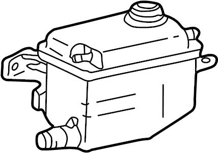 Mercury Sable Engine Coolant Reservoir. OHV, Tank, Cause