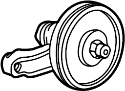 Ford Taurus Engine Crankshaft Pulley. Engine Crankshaft