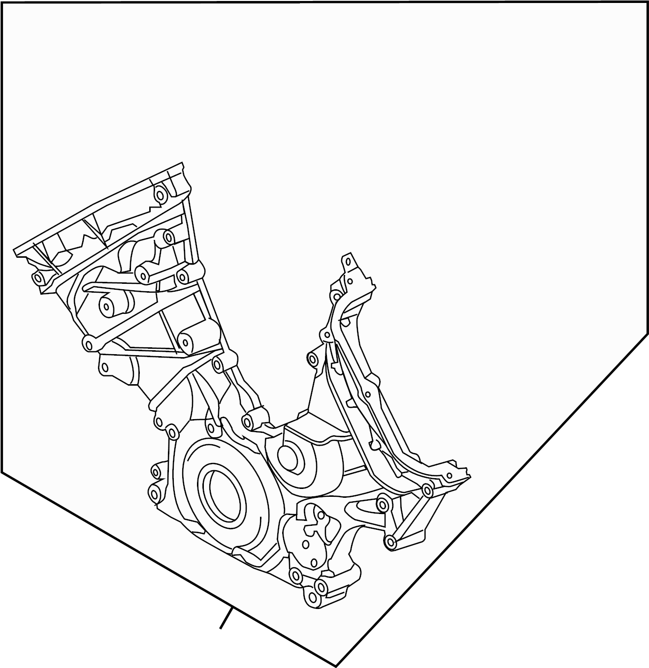 Ford F-150 Engine Timing Cover (Front). 5.0 LITER. 5.0
