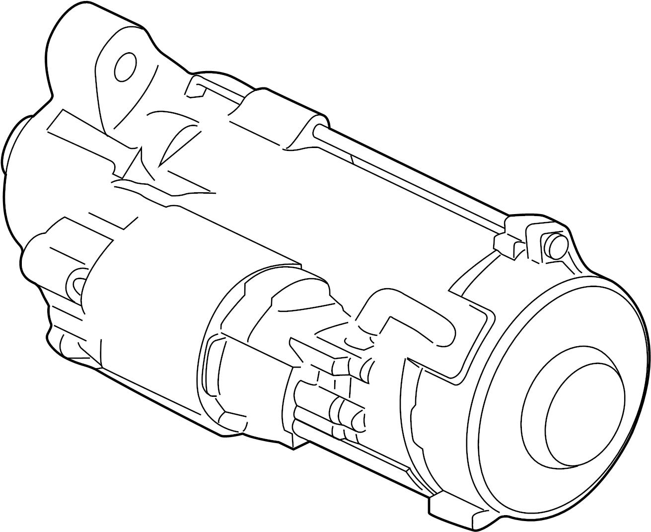 Ford F-150 Starter Motor. Starter Motor Assembly