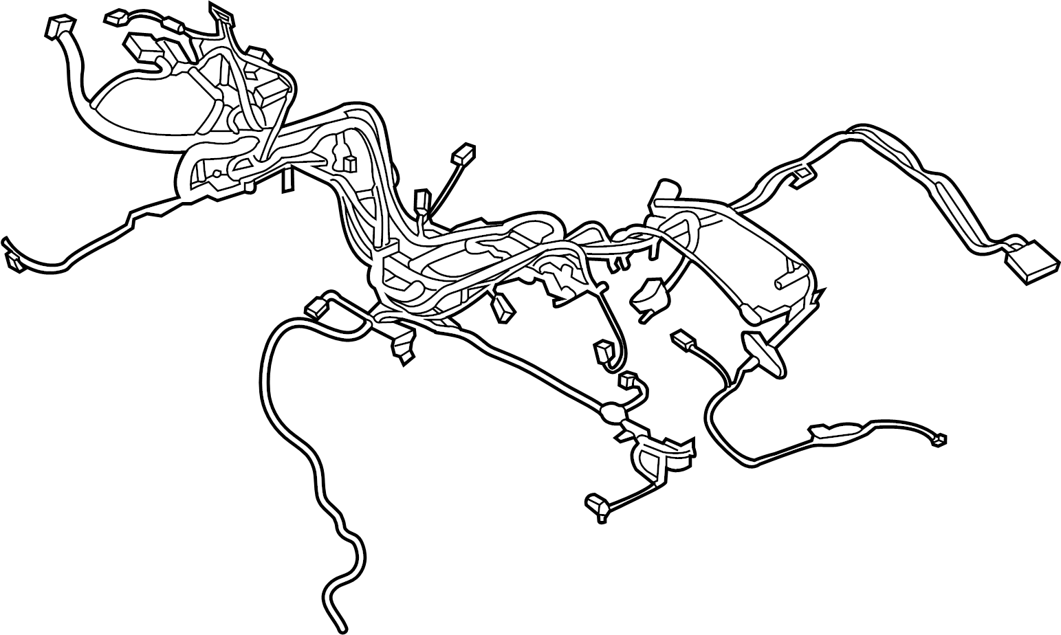 Lincoln Navigator Engine Wiring Harness. ENGINE