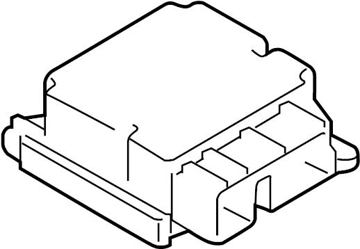 Ford F-150 Air Bag Control Module. F150; w/o 3.0L Diesel