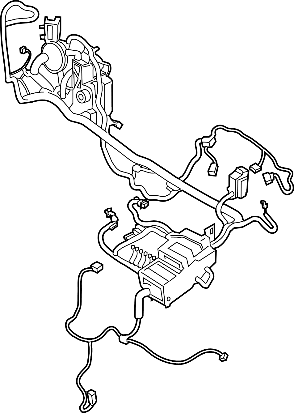 Ford Transit Connect Wire harness. WIRING ASSEMBLY. Front