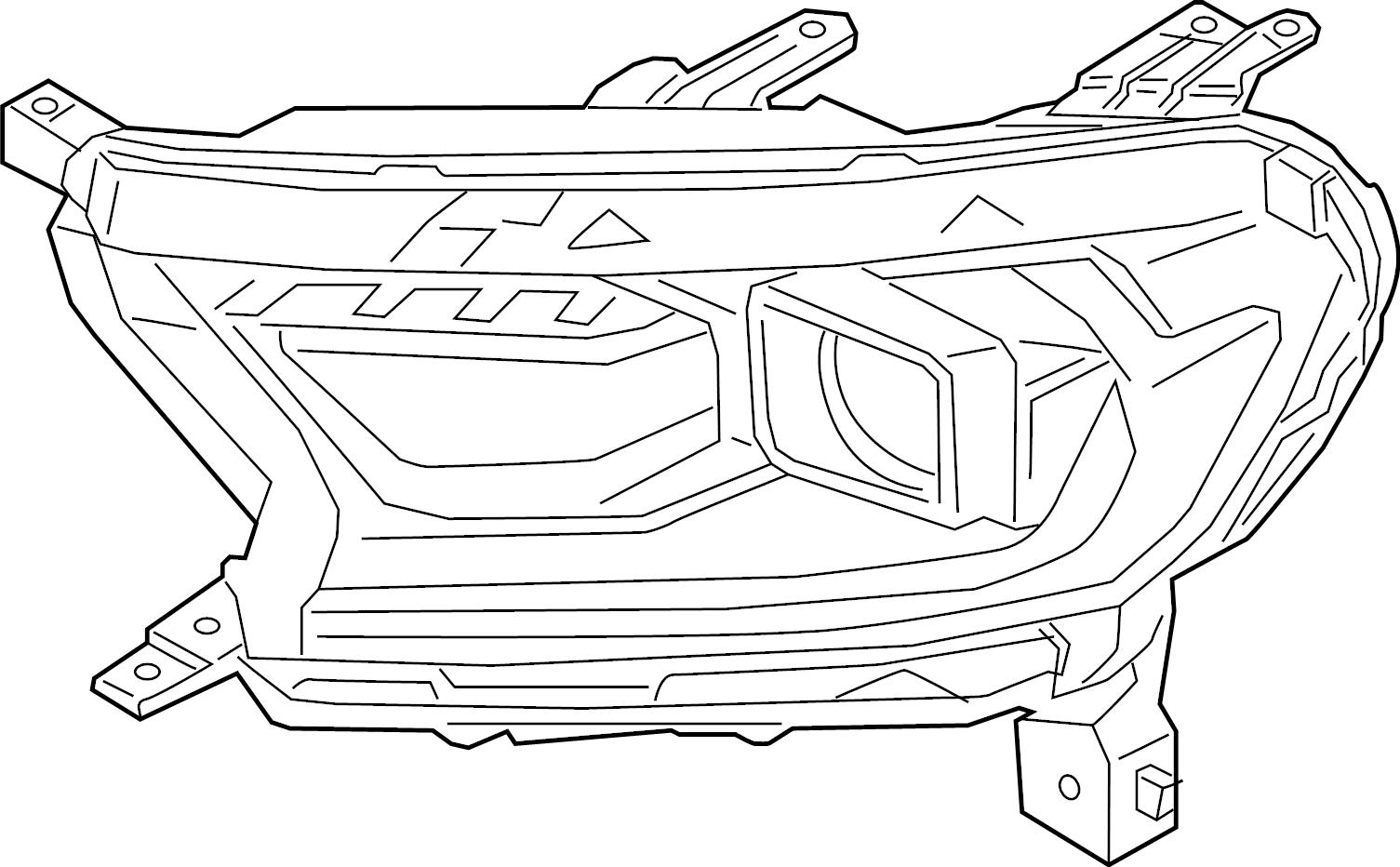 Ford Ranger Headlight. LARIAT. Ranger; Right; Reserve