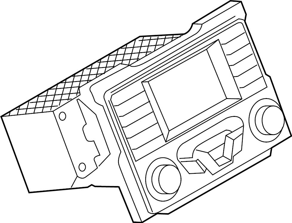 Ford Ranger Radio Control Unit. RECEIVER, W/O SYNC