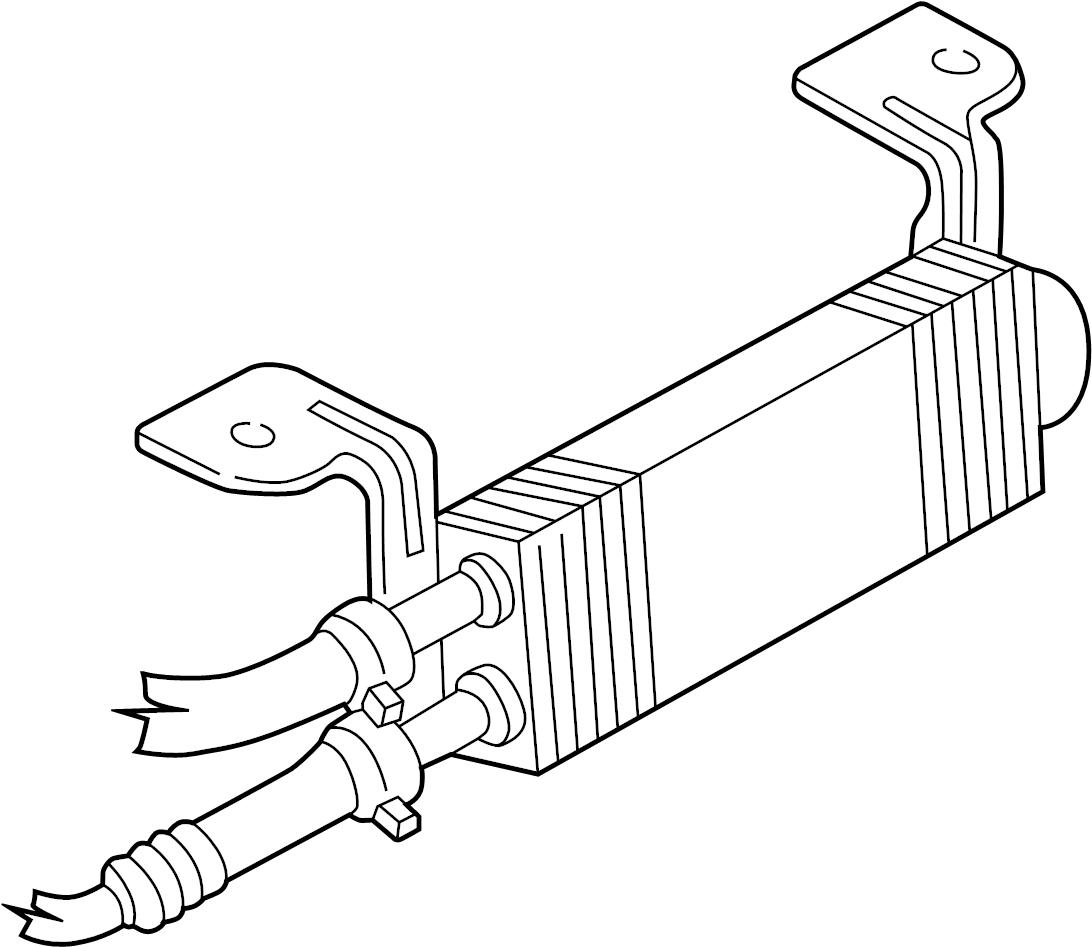 Ford Explorer Sport Trac Power Steering Cooler (Lower