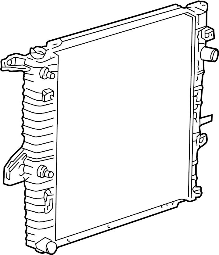 Ford Ranger Radiator. Radiator Assembly. Trans, Cooling