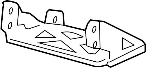 Ford Ranger Instrument Panel Air Bag Bracket. Passenger