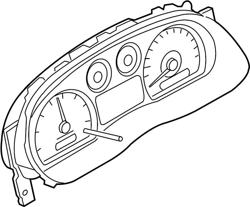Ford Ranger Instrument Cluster. Ring, Blackblack