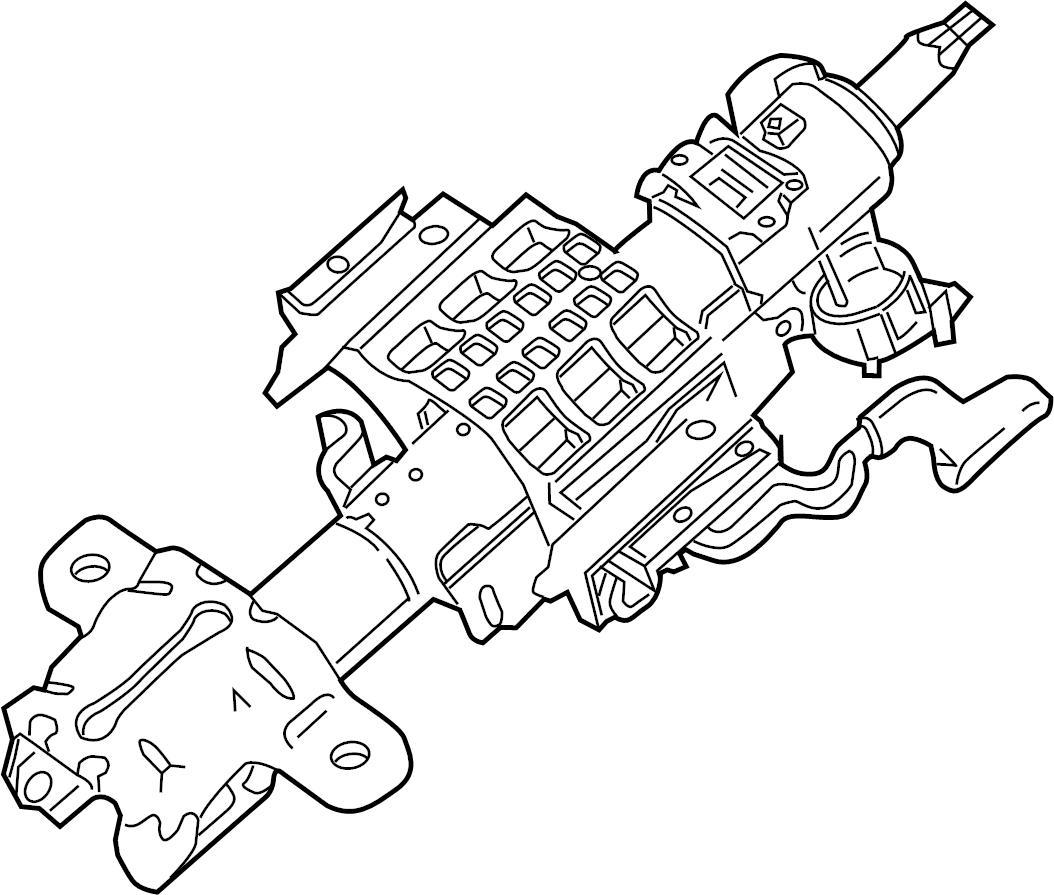 Ford F-450 Super Duty Steering Column. Column Assembly