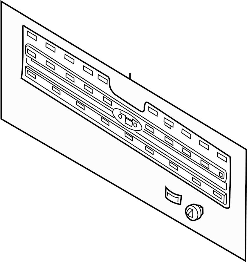 Ford F-350 Super Duty Tailgate Panel Kit. Box, FOOT, Pkg