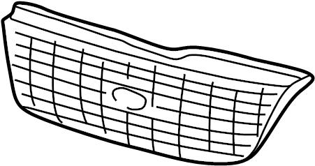 Ford Explorer Grille (Lower). 2002-05, Eddie Bauer