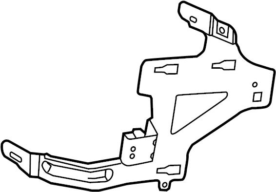 Ford Taurus Junction Block Bracket. Passenger comp