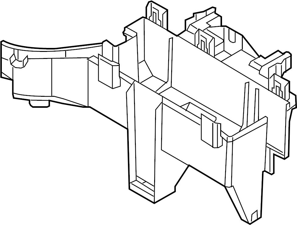 Ford Explorer Junction Block Cover (Lower). Cover. Panel