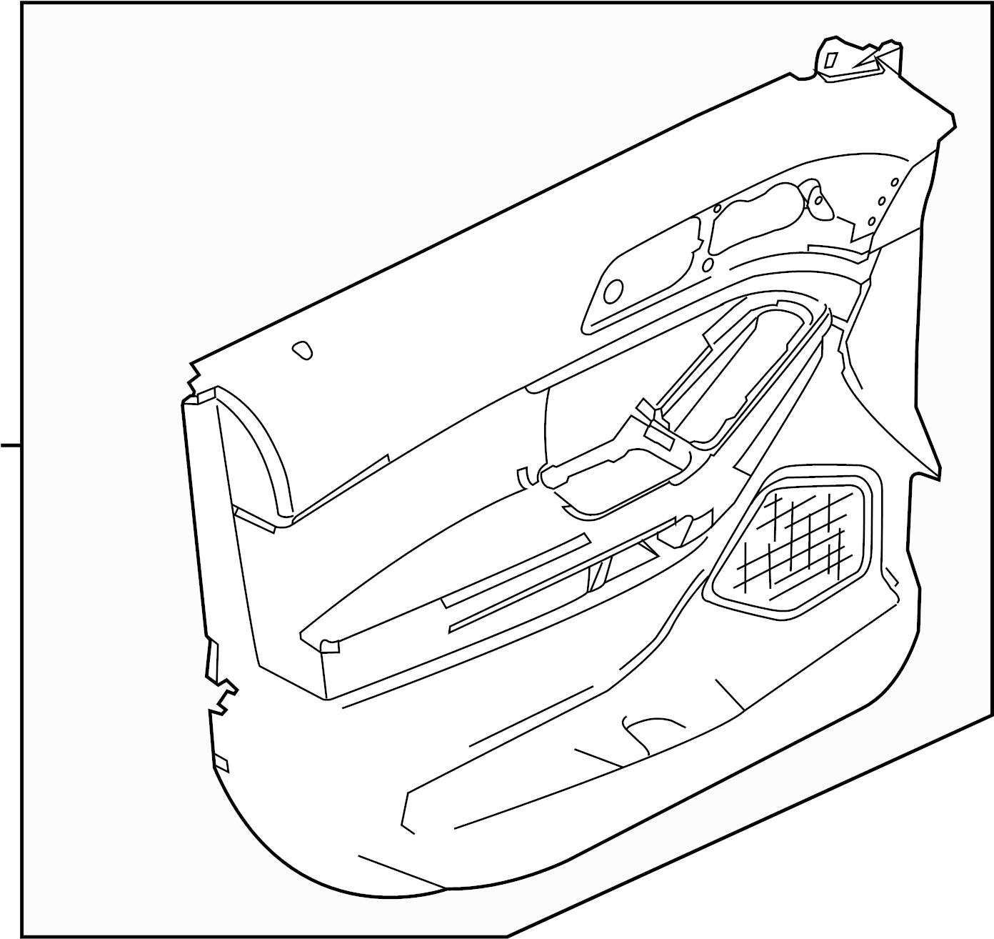 Ford Explorer Door Interior Trim Panel. Limited, stone