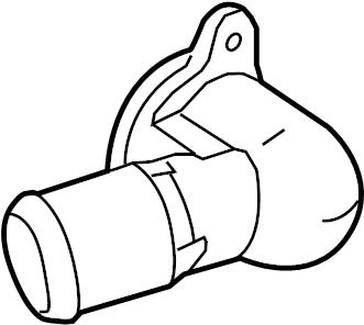 Lincoln MKT Engine Coolant Thermostat Housing. LITER